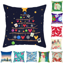 Fuwatacchi Cartoon Style Pillow Case Christmas Series Cushion Cover Home Decorative Colorful for Sofa Car Bed Seat