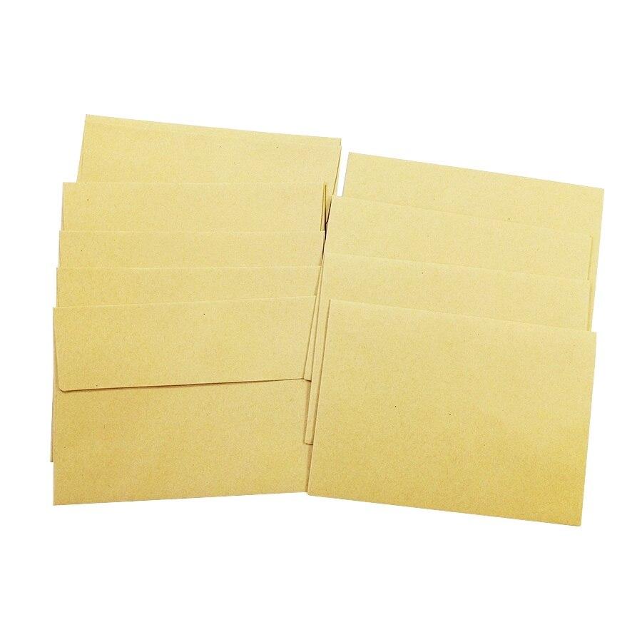 10Pcs/lot Vintage Various Sealing Designs Nature Series  Kraft Paper Envelopes Stationery