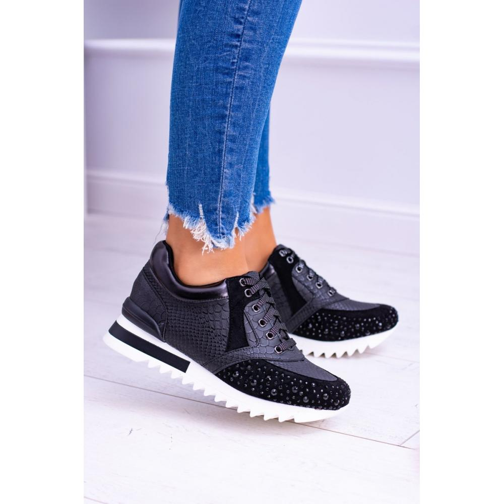 New Women's Shoes Lace Up Snakeskin Pattern Casual Ladies Sneakers Increase Leisure And Comfortable Outdoor Walking Shoes Female