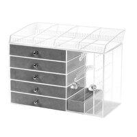 Transparent Acrylic Earring Stand Shelf Jewelry Storage Box Display Ear Stud Jewellery Stand Storage Case