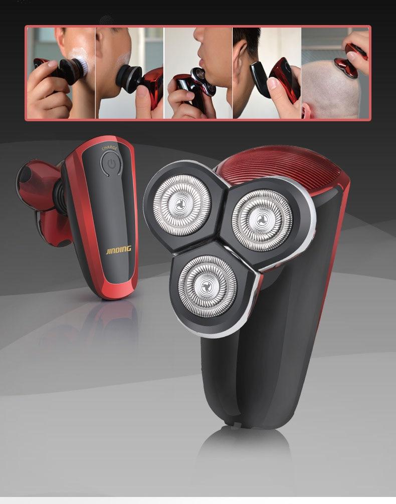 Jinding portátil 4-em-1 barbeador elétrico aparador de