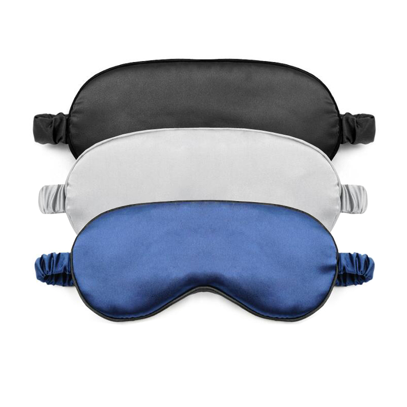 Soft Imitated Silk Eyeshade Sleeping Women Eye Cover Mask Eyepatch Blindfold Portable Travel Nap Rest Sleep Eye Patch 2