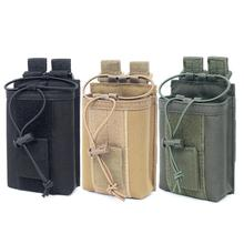 New Outdoor Package Pouch Tactical Sports Pendant Military Molle Nylon Radio Walkie Talkie Holder Bag Magazine Mag Pouch Pocket стоимость