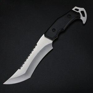 Image 4 - Xuan couteau droit portatif Feng, couteau de survie pour le camping, outil EDC, tactique, couteau de chasse et de pêche au sabre
