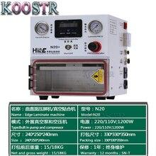 Huataie mini laminador lcd, remodelador de máquina de laminação oca para samsung edge touch screen, para iphone, android, telefone n20