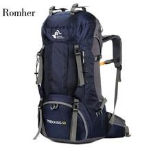 Climbing Bag Hiking Backpack 60L Climb Rucksack Camping Trekking Travel Bag Large Capacity Waterproof Outdoor Bags Rain Cover