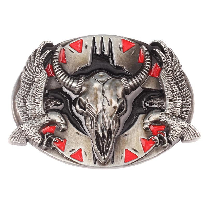 Bull skull Eagle Vulture belt Buckle homemade handmade waistband Components for 3.8cm 4cm
