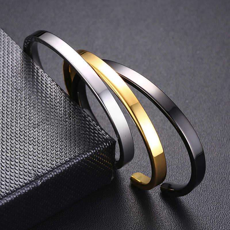 Vnox dostosowane klasyczne dzieci bransoletka dla chłopców dziewcząt 5mm ze stali nierdzewnej dzieci dziecko mankietów bransoletki indywidualny nadruk imienia prezent miłosny
