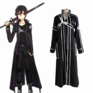 Image 2 - HOT Anime Sword Art Online Kirito Cosplay Costume Fancy Halloween Costumes for Adult Men Kirito SAO Kirigaya Kazuto Costume Suit