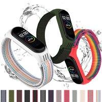 Anello in Nylon per xiaomi mi band 4 3 cinturino Sport braccialetto smartwatch cintura pulsera correa cinturino xiaomi cinturino per Miband 6 5 cinturino