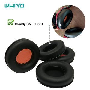 1 пара накладок для ушей Whiyo, сменные амбушюры для G500 G501, Bloody Headphones, наушники с накладками на подушечки, наушники с накладками на подушечки, на...