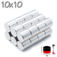 200 pcs. 10mm x 10mm Strong Magnets 10x10 Cylinder Round Rare e Art H ND FE B New Art Craft Joints 10x10mm 10 * 10mm