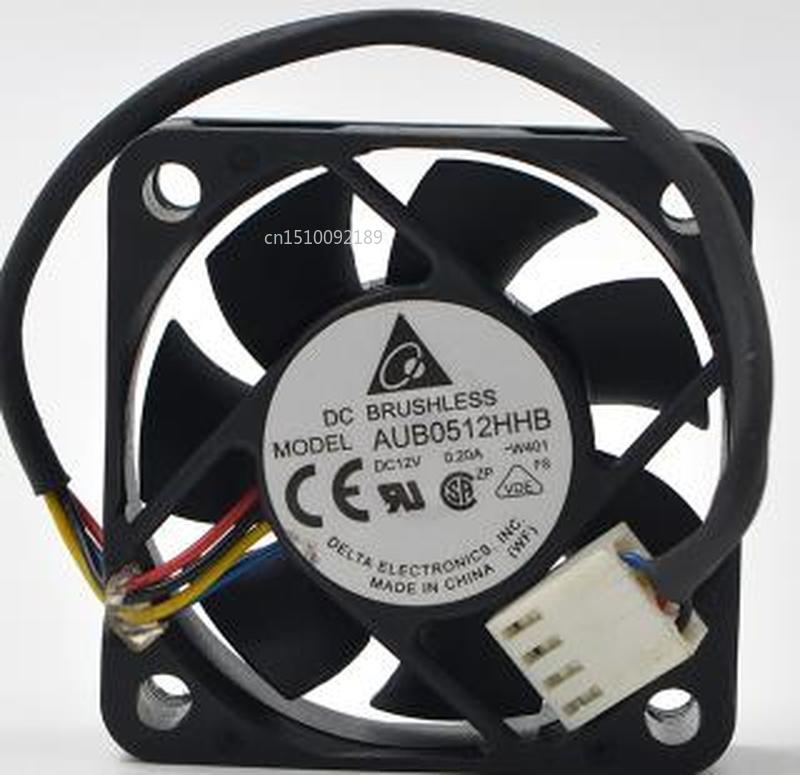 For Original AUB0512HHB 12V 0.20A 5cm 5015 4 Needle And Thread Temperature Control PWM Cooling Fan Free Shipping