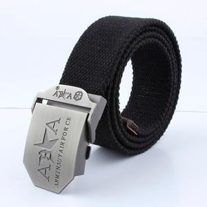 Ltoheyn 3.8cm liga de zinco fivela lona cinto de escalada ao ar livre aventura outing treinamento cinto de lona elástica pode ser personalizado