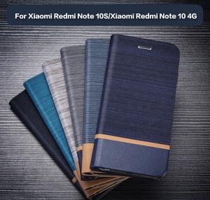 Image 1 - עור מפוצל ארנק מקרה עבור Xiaomi Redmi הערה 10s עסקים טלפון מקרה עבור Xiaomi Redmi הערה 10 4g מקרה רך סיליקון כיסוי אחורי