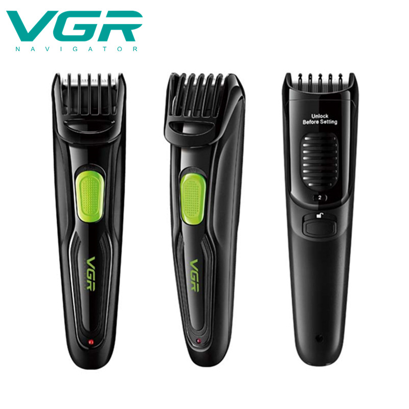 VGR Electric Hair Clipper Multifunction Hair Shaver USB Rechargeable Waterproof Beard Trimmer  Razors  Adult Hair Trimmers Corne