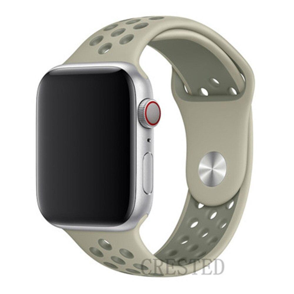 Спортивный ремешок для apple watch band 44 мм/40 мм apple watch 5 4 3 band iwatch band 5 42 мм/38 мм correa браслет ремень аксессуары для часов - Цвет ремешка: Fog Vintage Lichen34