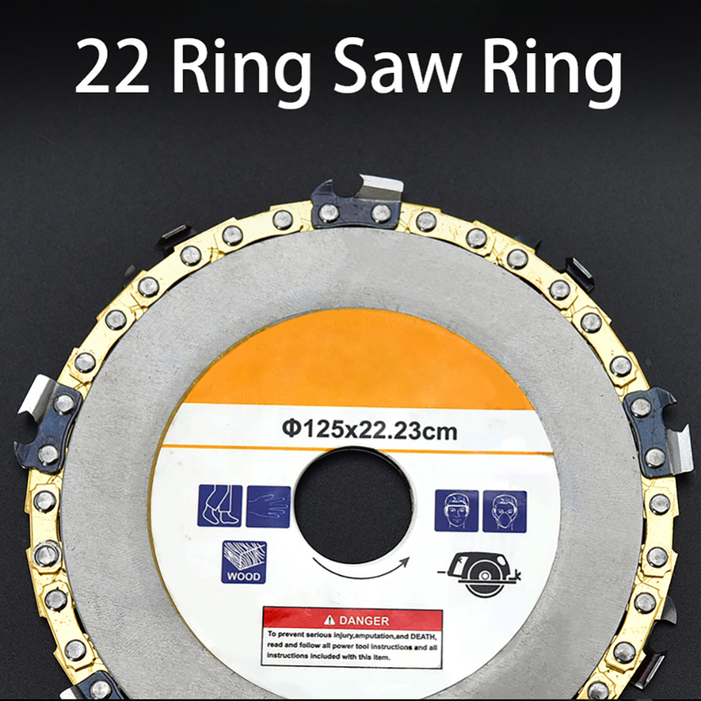 Image 4 - Wood Carving Disc Woodworking Chain Grinder Chain Saws Disc Chain Plate Tool for 125MM/115MM Angle Grinding 5 Inch-in Saw Blades from Tools