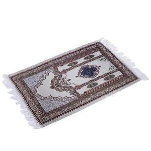 Image 4 - 1 sztuka New Arrival muzułmański dywanik do modlitwy dywan modlitewny Salat Namaz islamski styl arabski islamski dywanik modlitewny 27.5*43.3 inch