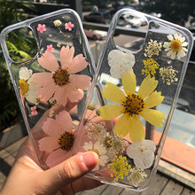 Summer wind wild chrysanthemum real flower for Iphone 6Case Iphone 7 Case Iphone 7 Plus Cases Iphone 8 Plus Case Luxury cheap ONEVAN Half-wrapped Case Apple iPhones iPhone5c iPhone 6 Plus IPHONE 6S iPhone 6s plus iPhone 5s Iphone SE IPHONE X IPHONE XS MAX