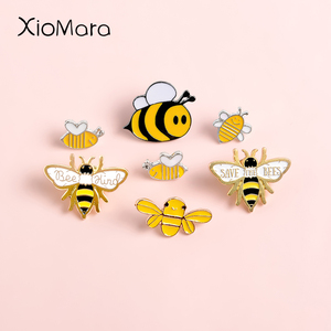 Bee Enamel Pins Collection Bee Kind Inspirational Badge Save The Bee Motivational Honey Bee Pin Quote Lapel pin Animal Brooch