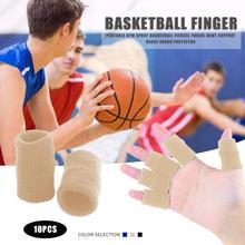 Новые 10 шт./компл. напальчники Поддержка большого пальца защитное Фиксирующее приспособление дышащая эластичная лента для баскетбола, тенниса, бейсбола