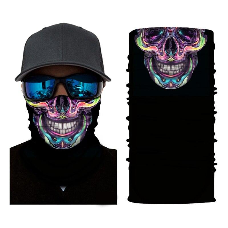 Magic Scarf 3D Seamless Cotton Skull Bandana Hiking Sport Tube Face Bicycle Headband Buffs Hunting Winter Snowboard Balaclava