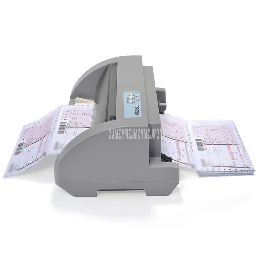 TG890 Dot Matrix Needle Type Dot Matrix Printer Express Delivery Bill Electric Office Tax Invoice Printer USB 1+5P Copy Ability