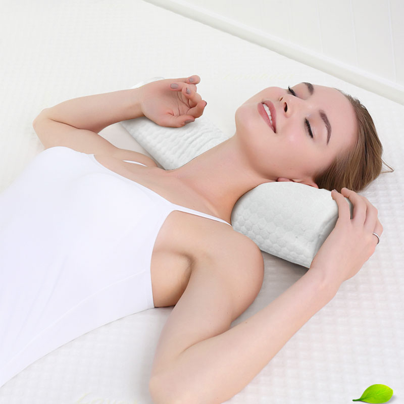 Memory Form Pillow For Travel Fashion Slow Rebound Massager Cervical Health Care Improve Soft Sleeping  Comfortable Neck Protect
