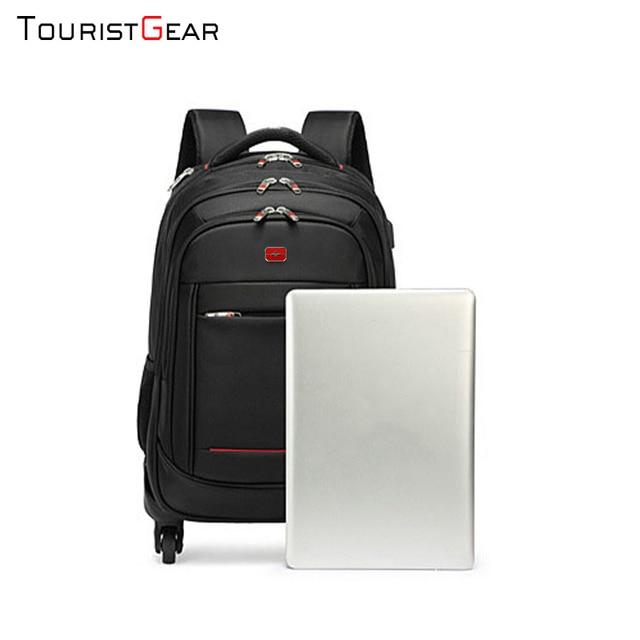 school backpack with Wheel Waterproof Luggage Travel trolley bag business Laptop Backpack Men Carry-on Wheel Rolling Suitcase 4
