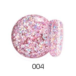 Image 4 - Beautilux 1Pcพราวประกายสายรุ้งเล็บเจลPolish Soak Off UV LEDเล็บArt Glitter Bling Rose Gold Silverเจล10G