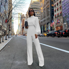Autumn Jumpsuit Women High-necked sexy Backless Lady  Long Sleeve High Waist Romper Jumpsuits