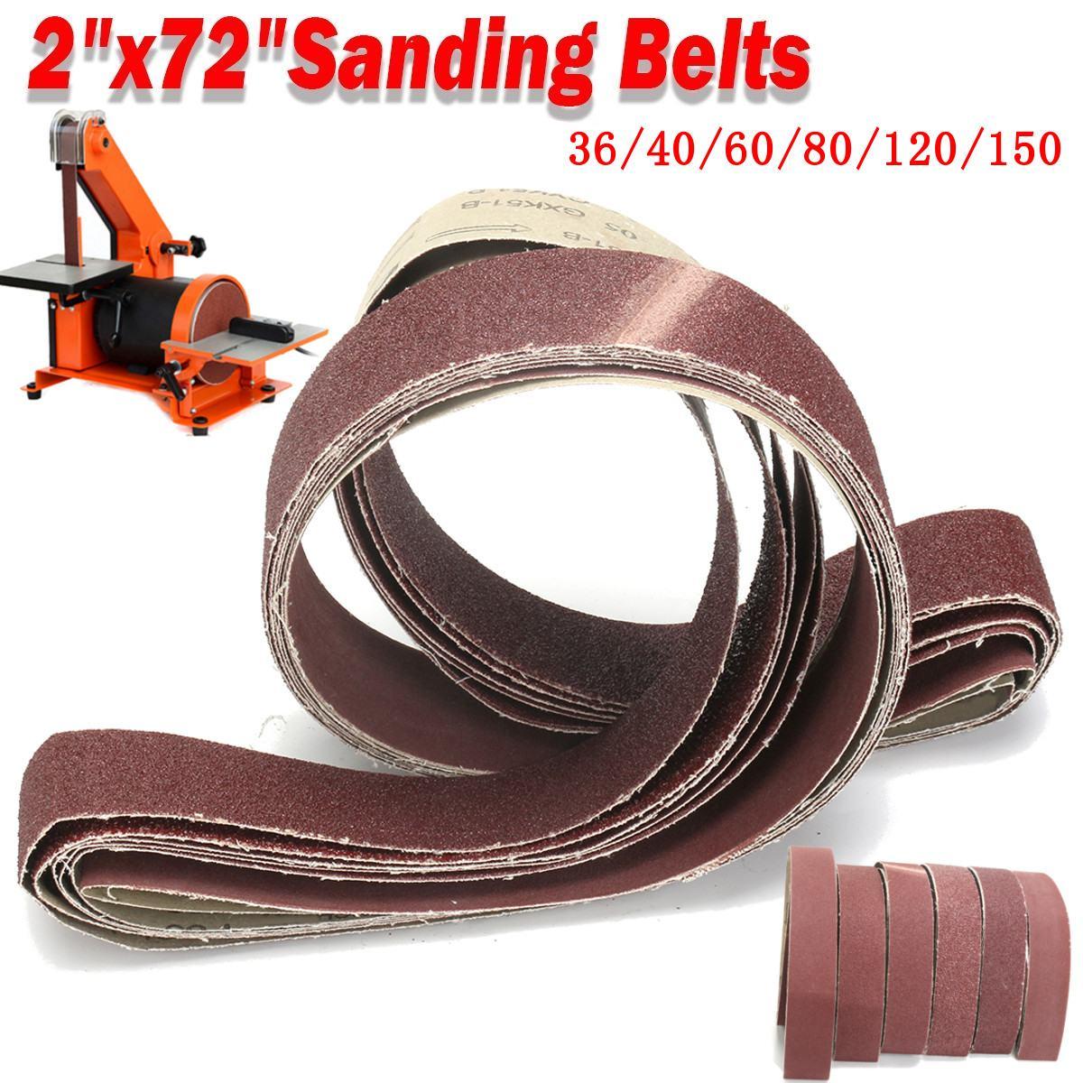 6pcs 50x1820mm A/O Abrasive Mixed Grit Sanding Belts Set 2