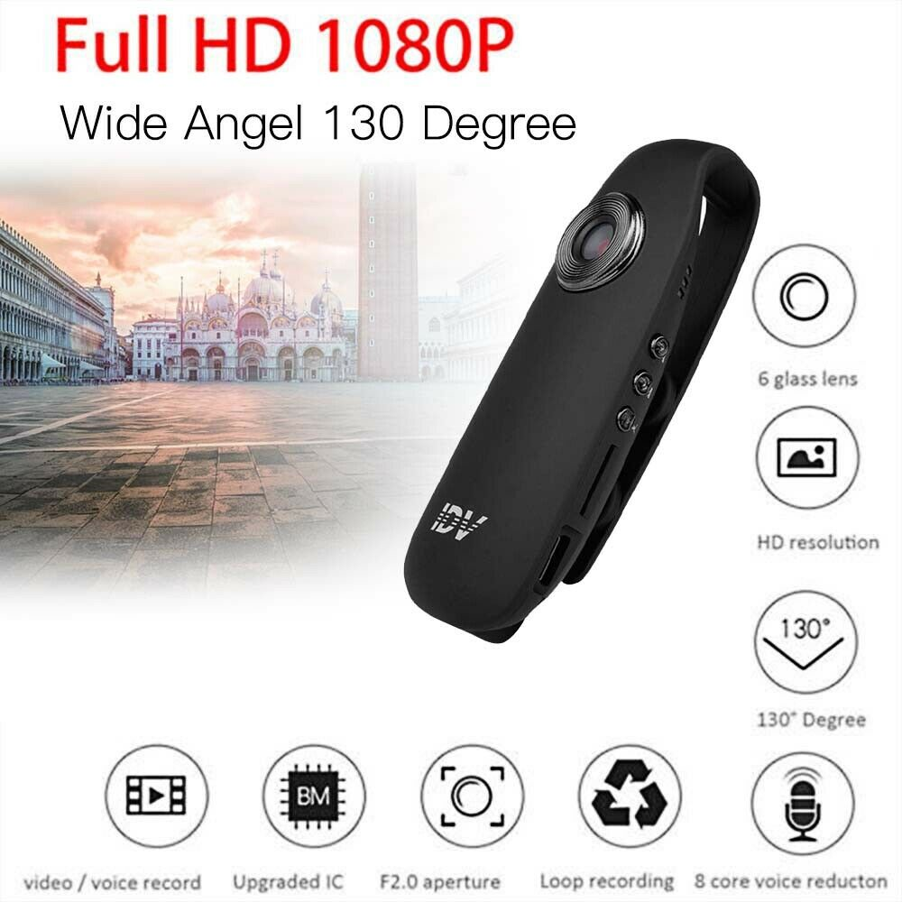 Mini Dash Cam Camcorder HD 1080P With Motion Detection Function Body Motorcycle Bike Motion Action Camera UK Support Charging