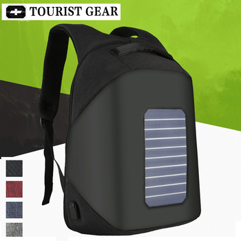 10W Solar Powered Designer bagpack men mochila usb charging anti theft backpack Travel 15.6'' laptop backpack women waterproof 4
