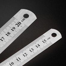 1 шт. металлическая линейка из нержавеющей стали, метрическое правило, точный двухсторонний измерительный инструмент,, 15 см/20 см/30 см, линейка, Прямая поставка