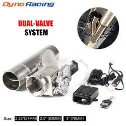 2 ''2.25'' 2.5 3 Electric Exhaust Ausschnitt Kit Y rohr Exhaust Control Ventil Mit Dual Ventil system Schalter Fernbedienung Kit