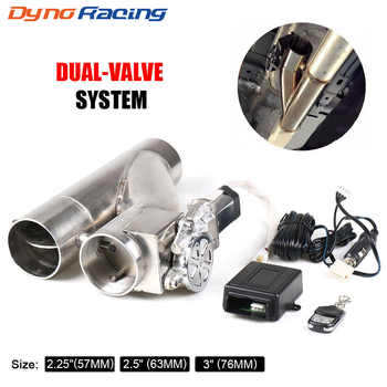 """2\'\' 2.25\'\' 2.5\"""" 3\"""" Electric Exhaust Cutout Kit Y pipe Exhaust Control Valve With Dual Valve System Switch Remote Control Kit - DISCOUNT ITEM  42 OFF Automobiles & Motorcycles"""