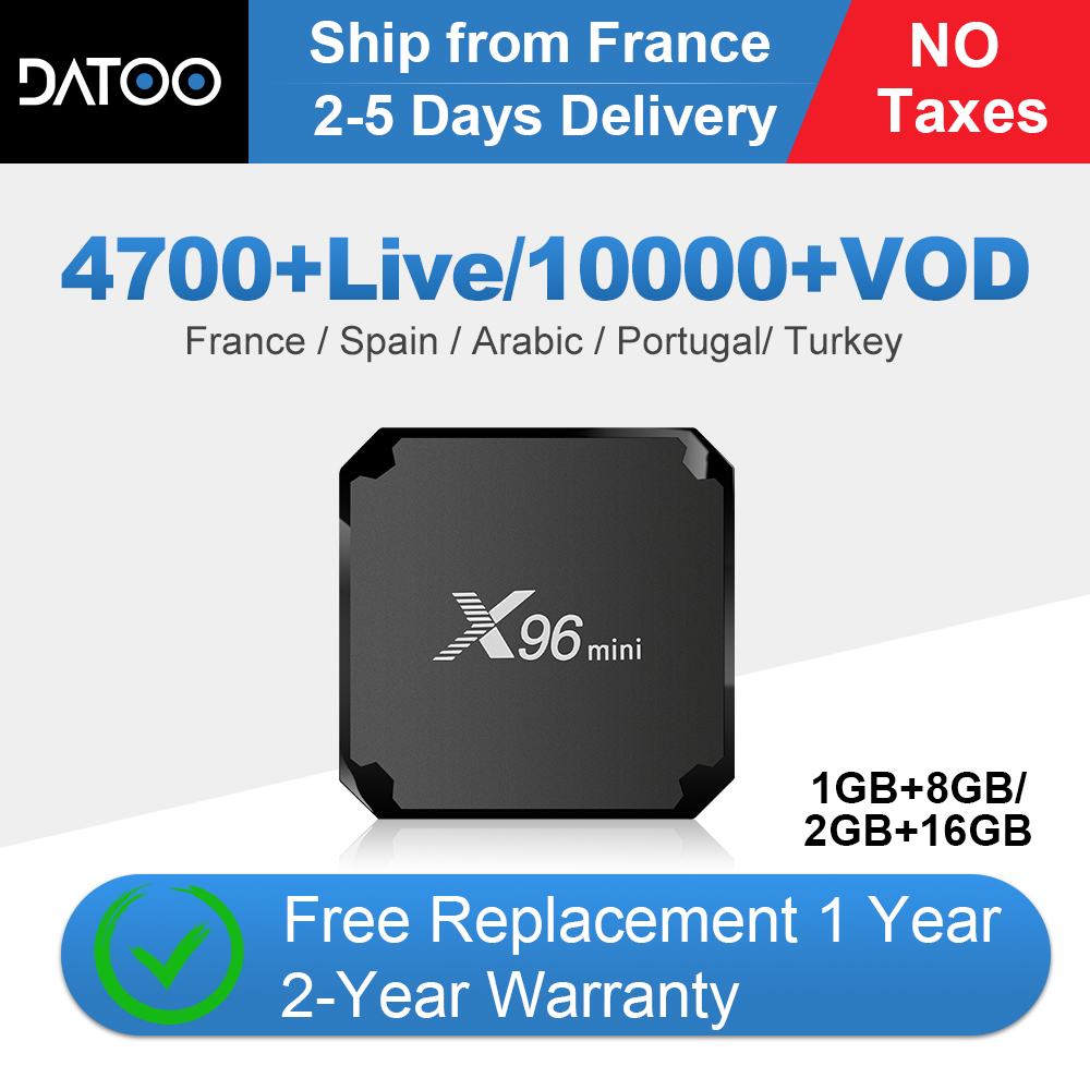 IPTV France X96 Mini Tv Box Android 7.1 S905W French IPTV Subscription Arabic Italy Portugal Spain Turkey IP TV X96mini IPTV Box-in Set-top Boxes from Consumer Electronics