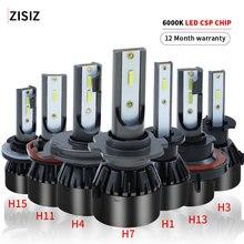 цена на h15 led bulbs Car LED Headlight Auto lamp Light Bulb H1 H3 880 H8 H10 9005 HB4 9006 5202 H16 d2 D3 hir2 9012 H15 9004 9007 H13