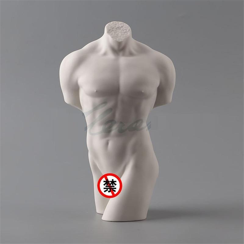 Simple Modern Creative Glaze Ceramic Naked Man Figure Art Sculpture Nude Male Statue Ceramic Craft Home Decoration R3104