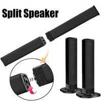 Bluetooth 4.2 Separabile Altoparlante con Il Mic Built-in Subwoofer Home Theater Senza Fili Tv 4.0 Canali 3D Surround Sound 20W Soundbar