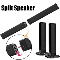Bluetooth 4.2 Separable Speaker with MIC Built in Subwoofer Home Theater Wireless TV 4.0 Channel 3D Surround Sound 20W Soundbar