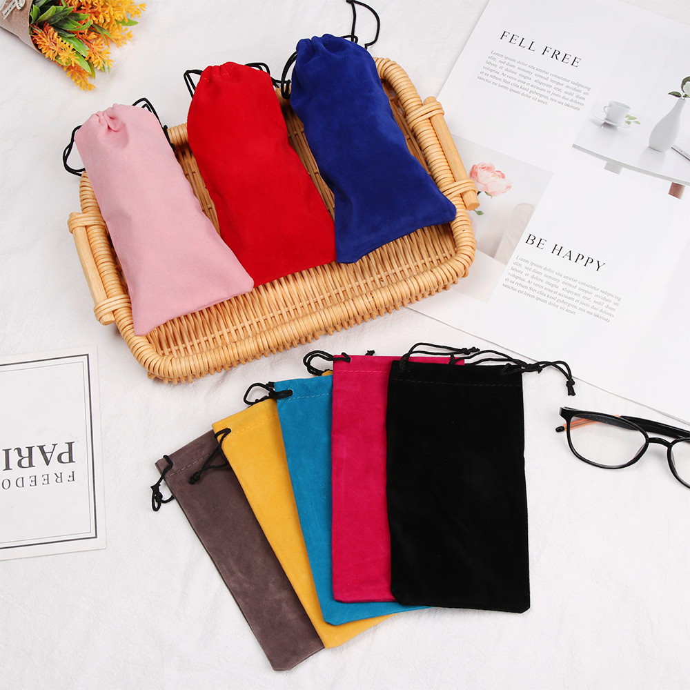 New Hot Sale Sunglasses Bag Drawstring Pouch Myopia Glasses Case Soft Eyeglasses Pocket Spectacles Cloth Bag Eyewear Accessories(China)
