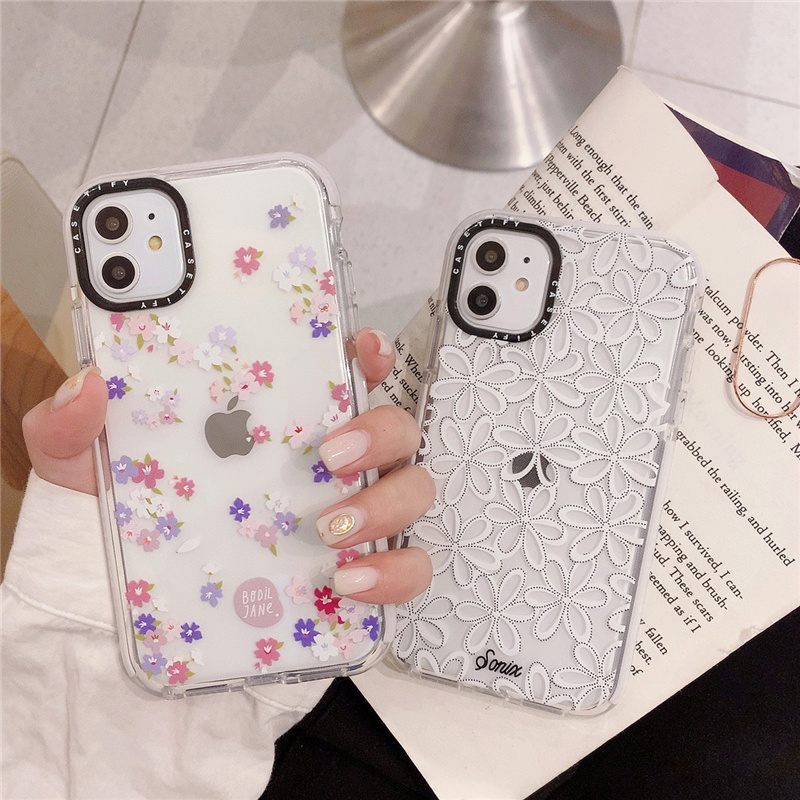 Lace Little Flowers Phone Case for iPhone 11 Pro Max XR XS Max X 6 s 7 8 Plus Case Cover Soft Cases for iPhone Case with Border
