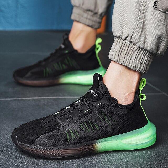 Aire de malla de los hombres es SneakersTrend cómodo zapatillas de correr para hombre verano al aire libre los hombres bajos Zapatos de deporte amortiguación no slipTraining zapatos 4
