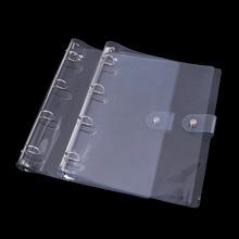 A4 Notebook Loose School Office Transparent Color Plastic Clip File Folder