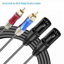 OMESHIN Dual Xlr Dual de Cable de Audio Rca de Audio profesional de Cable de enlace Dual 5ft Xlr hembra/macho a hembra Rca Cable de Audio(China)