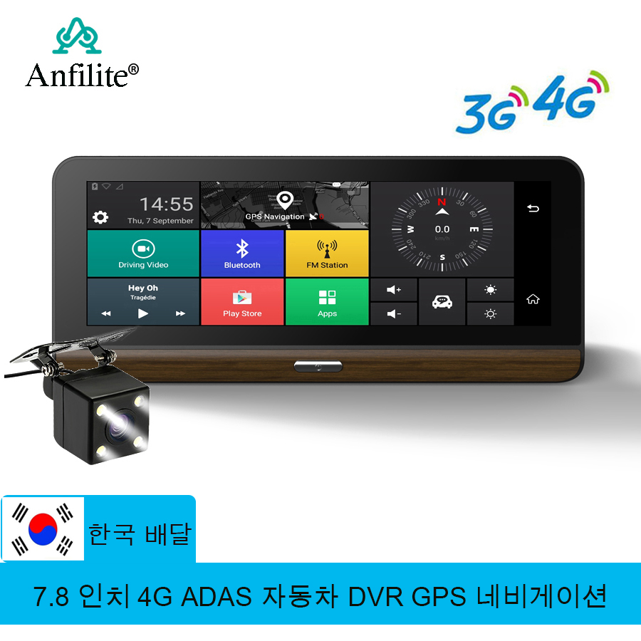 Anfilite Parking-Monitoring DVR Gps-Navigation Car-Camera Truck Android E31 Pro 4G title=