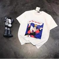 19 summer new ladies fashion Harajuku King cotton T shirt age reduced short sleeve